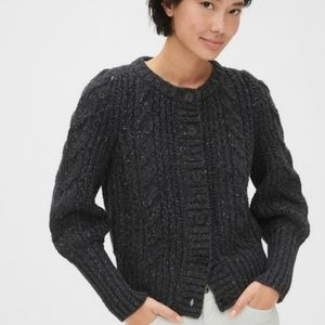 Gap chunky cable knit cardigan